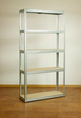 Metallregal Steck-Lager- Schwerlastregal bis 400 kg pro Boden , verzinkt , HZ_180x100x30, 5 Böden