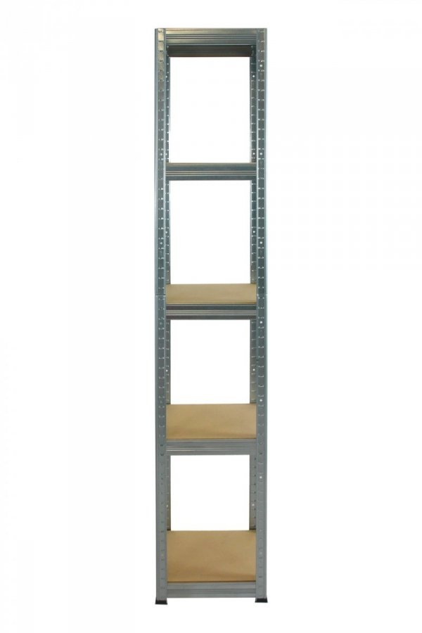 Metallregal Steck-Lager- Schwerlastregal bis 175 kg pro Boden , verzinkt , HZ_180x050x50, 5 Böden, Quadratisch