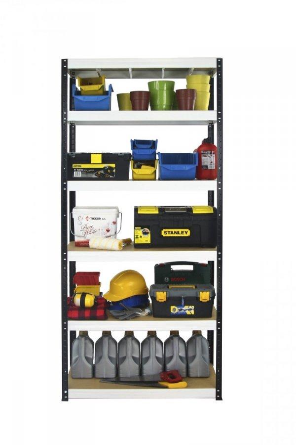 Metallregal Werkstatt Schwerlastregal Helios 213x075x50_6 Böden, Tragkraft bis 400 Kg pro Boden,  Viele Farben zur Auswahl