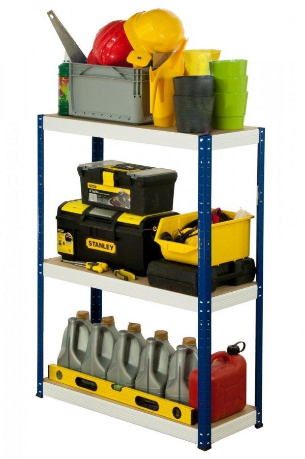 Metallregal Werkstatt Schwerlastregal Helios 090x110x60_3 Böden, Tragkraft bis 400 Kg pro Boden,  Viele Farben zur Auswahl