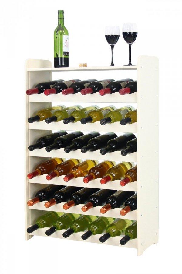 Weinregal Holz 36 Flaschen, RW-16-36P (62,5x26,5x91,4), Dunkelgrau, Ecru, Dunkelgrau Decor, Dunkelbraun Decor