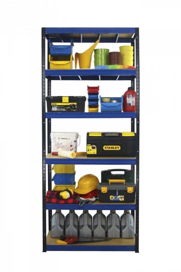 Metallregal Werkstatt Schwerlastregal Helios 196x075x35_6 Böden, Tragkraft bis 400 Kg pro Boden,  Viele Farben zur Auswahl