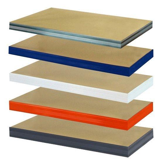Zusatzboden 045 x 045_P zu Metallregal Helios VERZINKT und pulverbeschichtet alle FARBEN