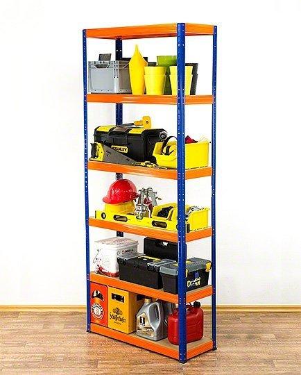 Metallregal Werkstatt Schwerlastregal Helios 213x100x50_6 Böden, Tragkraft bis 400 Kg pro Boden,  Viele Farben zur Auswahl