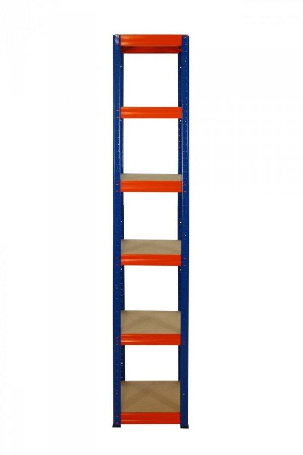 Metallregal Werkstatt Schwerlastregal Helios 196x045x45_6 Böden, Tragkraft bis 175 Kg pro Boden,  Viele Farben zur Auswahl, Quadratisch