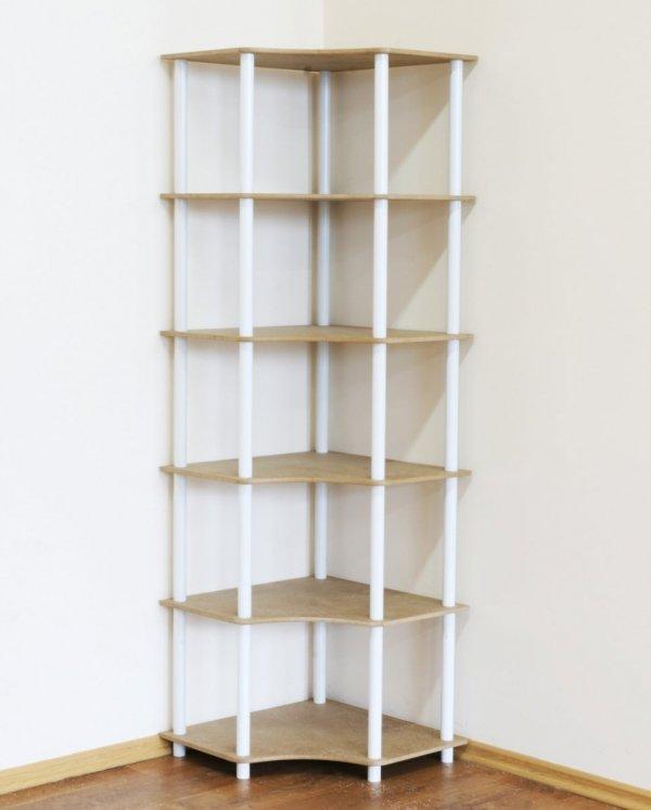Dedal-6W Eckregal 175x56x56 / 6 Böden / 5 Farben zur Auswahl