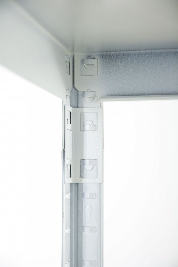 Metallregal ganz aus Metall Elara EW_180x090x40_5_120, 5 Böden 120 kg,weiß