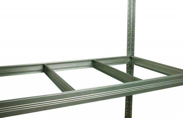 Metallregal Steck-Lager- Schwerlastregal bis 400 kg pro Boden , verzinkt , HZ_196x120x45, 6 Böden