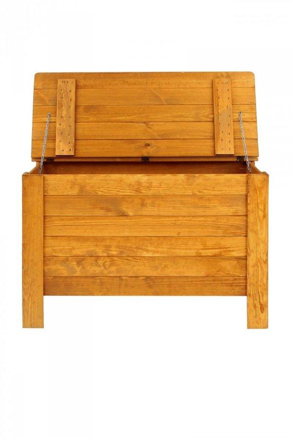 Holztruhe Truhe Kiste mit Deckel Wäschetruhe Spielkiste Box B-13 /Erle geölt, (52x80x40 cm)