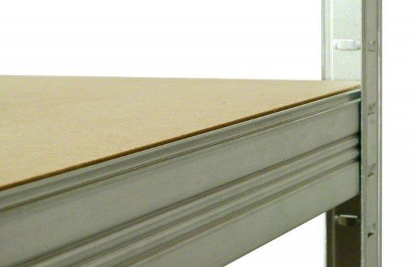 Metallregal Steck-Lager- Schwerlastregal bis 400 kg pro Boden , verzinkt , HZ_106x090x60, 3 Böden