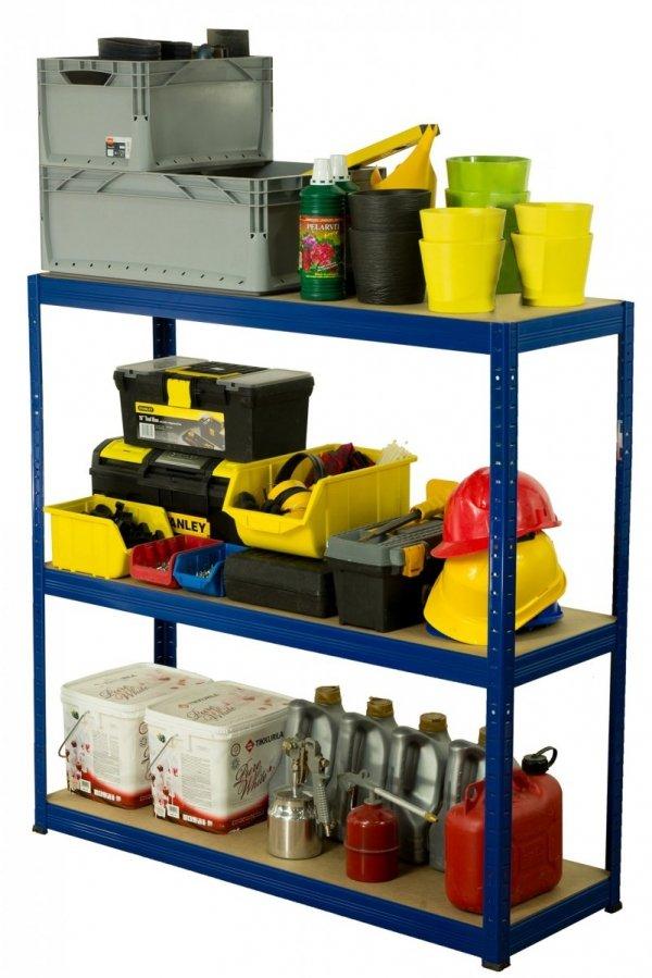 Metallregal Werkstatt Schwerlastregal Helios 106x090x45_3 Böden, Tragkraft bis 400 Kg pro Boden,  Viele Farben zur Auswahl
