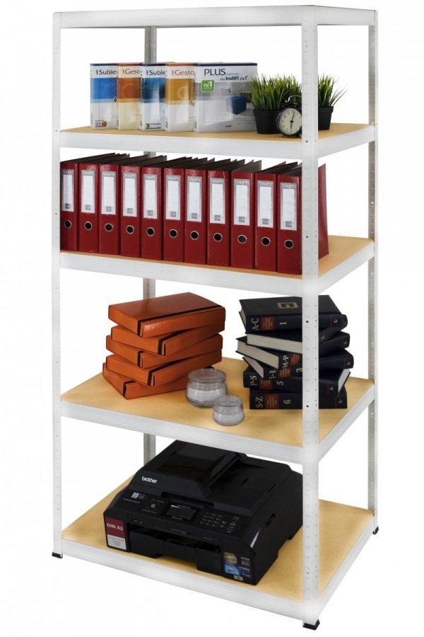 Metallregal Werkstatt Schwerlastregal Helios 180x060x60_5 Böden, Tragkraft bis 175 Kg pro Boden,  Viele Farben zur Auswahl, Quadratisch