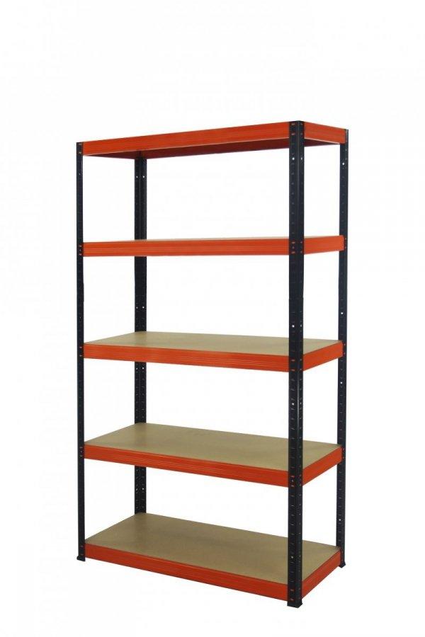 Metallregal Werkstatt Schwerlastregal Helios 180x090x50_5 Böden, Tragkraft bis 400 Kg pro Boden,  Viele Farben zur Auswahl