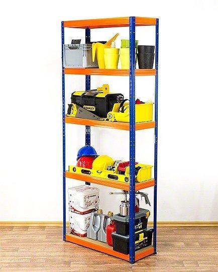 Metallregal Werkstatt Schwerlastregal Helios 196x090x45_5 Böden, Tragkraft bis 400 Kg pro Boden,  Viele Farben zur Auswahl