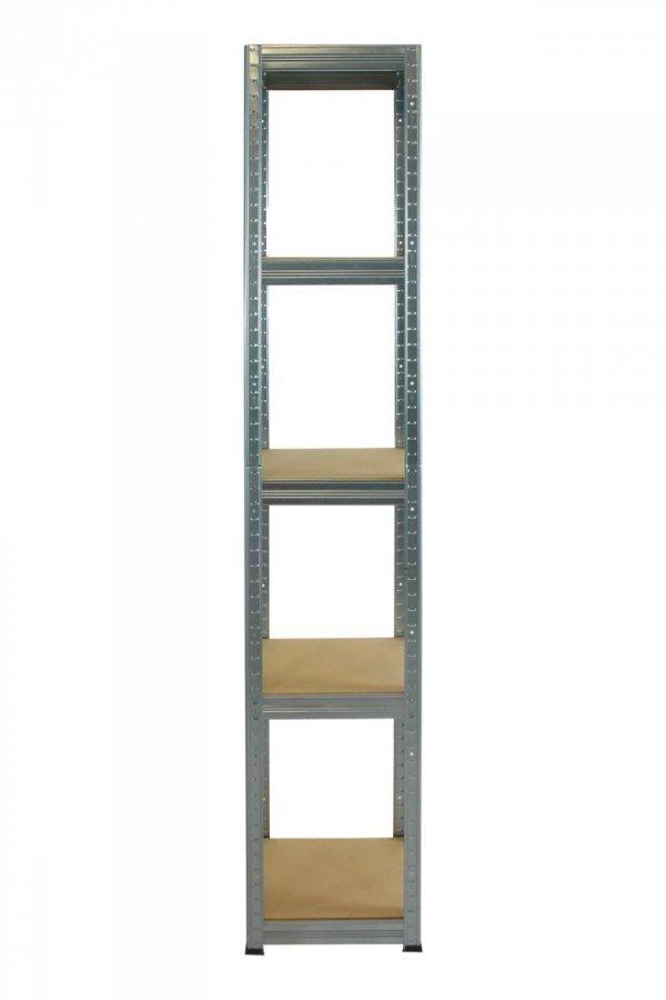 Metallregal Steck-Lager- Schwerlastregal bis 175 kg pro Boden , verzinkt , HZ_213x040x40, 5 Böden, Quadratisch