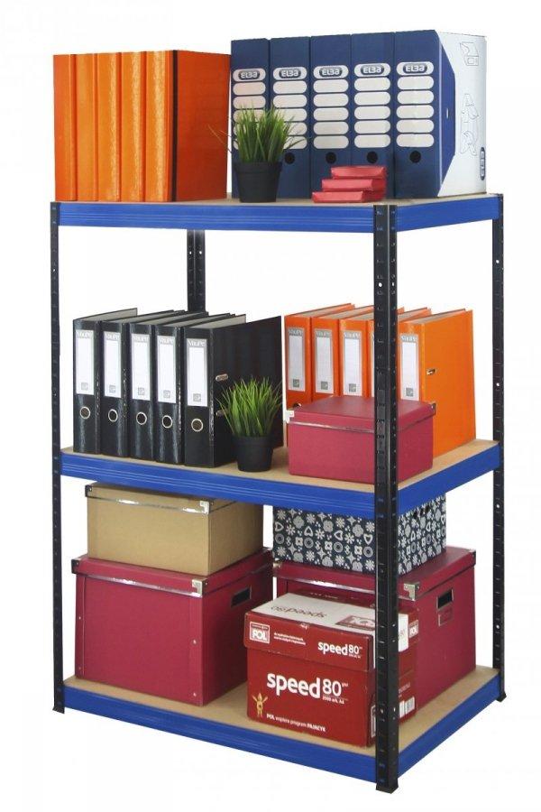 Metallregal Werkstatt Schwerlastregal Helios 106x050x50_3 Böden, Tragkraft bis 175 Kg pro Boden,  Viele Farben zur Auswahl, Quadratisch