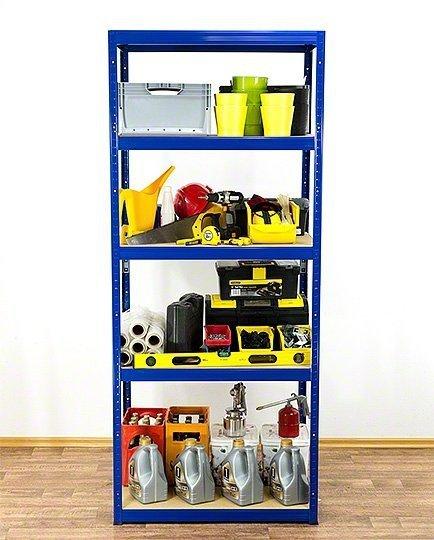 Metallregal Werkstatt Schwerlastregal Helios 213x090x60_5 Böden, Tragkraft bis 400 Kg pro Boden,  Viele Farben zur Auswahl