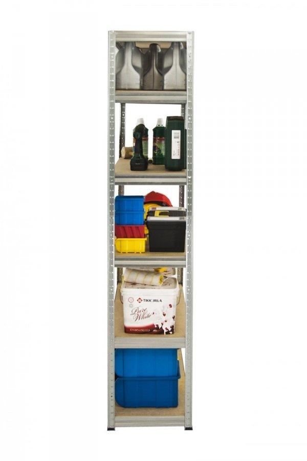 Metallregal Steck-Lager- Schwerlastregal bis 400kg pro Boden , verzinkt , HZ_213x120x30, 6 Böden