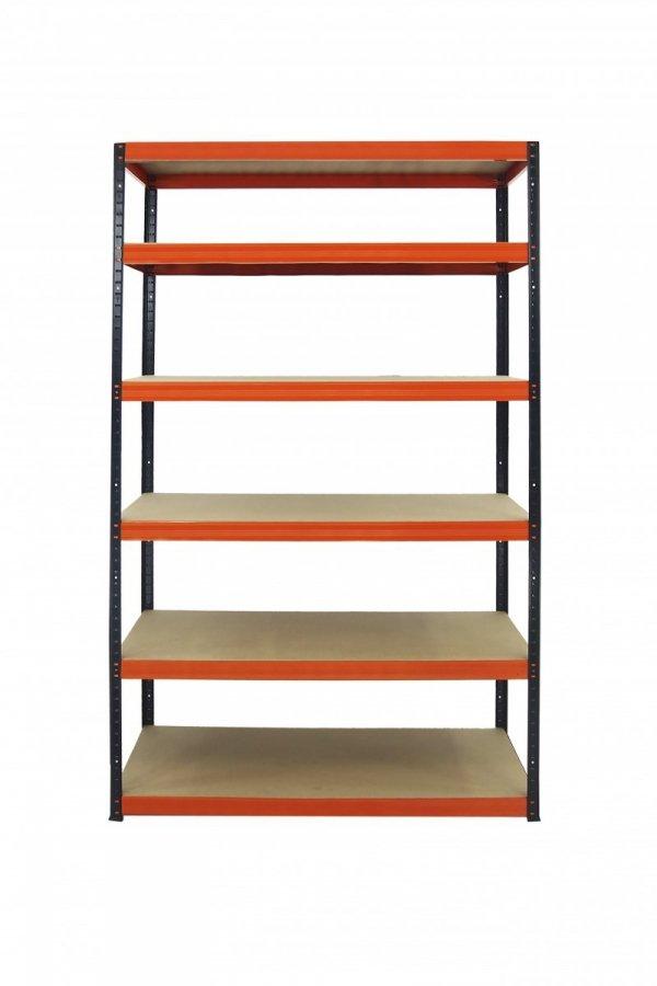 Metallregal Werkstatt Schwerlastregal Helios 196x120x50_6 Böden, Tragkraft bis 400 Kg pro Boden,  Viele Farben zur Auswahl