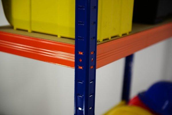 Metallregal Werkstatt Schwerlastregal  bunt farbig  Helios 196x090x30 6 Stabil