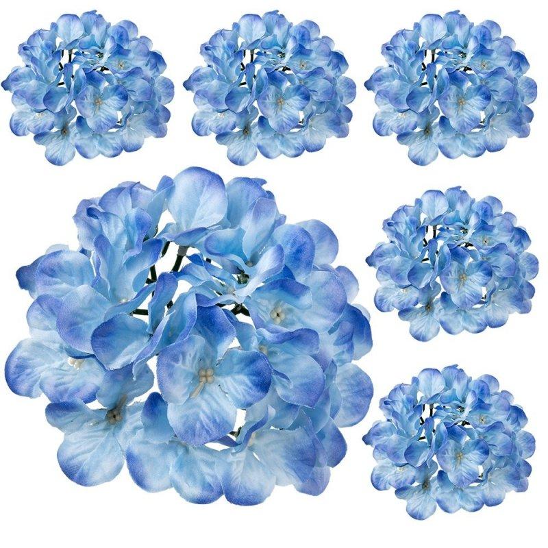 Główka Hortensja 6szt. Niebieski
