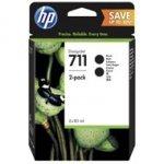 Tusz HP 2-Pack 711 | 2 x 80ml | black