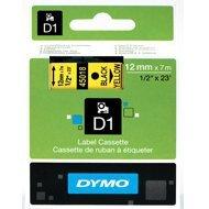 Dymo taśma do drukarek etykiet, D1 45018 | 12mm x 7m | czarny / żółty
