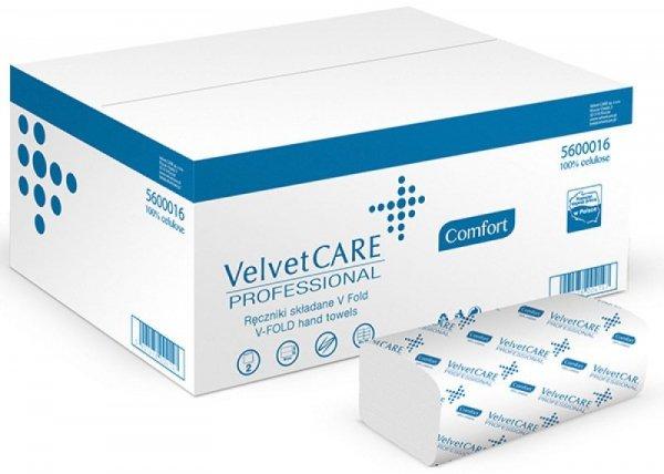 Ręczniki składane ZZ celulozowe VELVET Professional, 2-warstwowe, 3000 listków, 20szt., białe