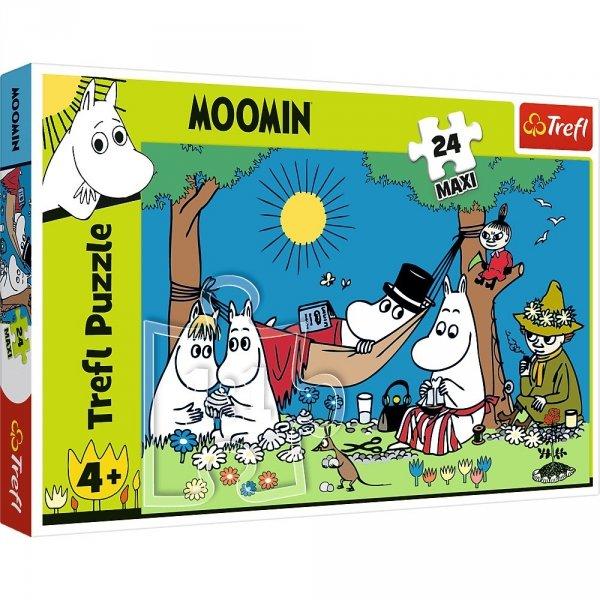 Puzzle 24  elementy Radosny dzień Muminków puzzle