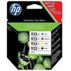 Zestaw czterech tuszy HP 933XL/932XL do OJ 7612/7110 | 1000(BK), 825(COL) | CMYK