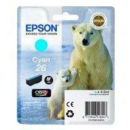 Tusz Epson T2612 do XP-600/700/800 | 4,7ml | cyan