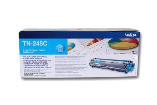 Toner oryginalny Brother TN245C cyan do  HL-3140CW / HL-3150 / HL-3170 / DCP-9020 / MFC-9140CDN na 2,2 tys. str. TN-245C