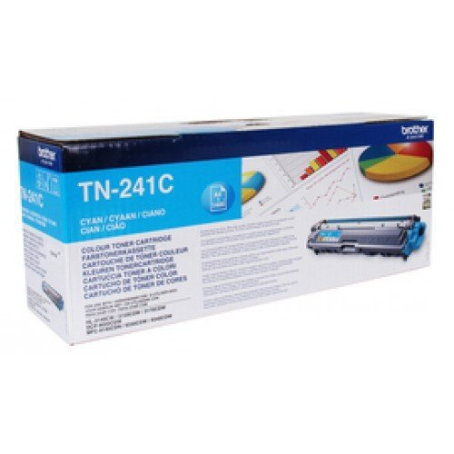 Toner oryginalny Brother TN241C cyan do  HL-3140CW / HL-3150 / HL-3170 / DCP-9020 / MFC-9140CDN na 1,4 tys. str. TN-241C