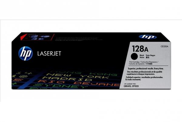 Toner oryginalny HP 128A (CE320A) black do HP Color LaserJet Pro CP1525n / Pro CP1525nw / CM 1415fn /  CM 1415fnw na 2 tys. str.