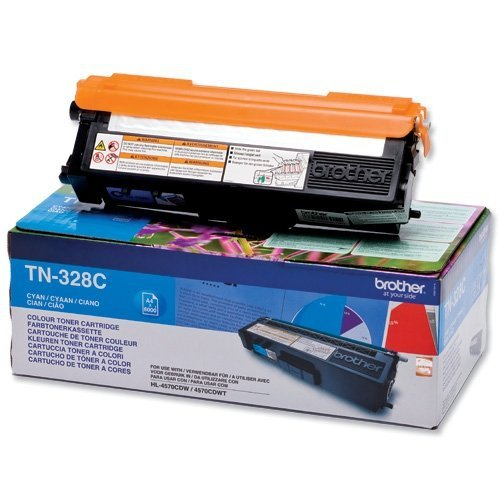 Toner oryginalny Brother TN328C cyan do HL-4570CDW / DCP-9270CDN / MFC-9970CDW  na 6 tys. str. TN-328C