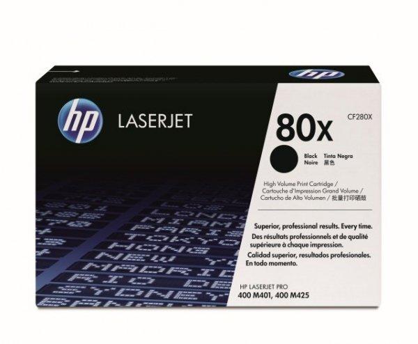 Toner oryginalny HP 80X (CF280X) black do HP LaserJet Pro 400 M401a / Pro 400 M425 / Pro 400 M425dn / Pro 400 M401d / Pro 400 M425dw na 6,8 tys. str.