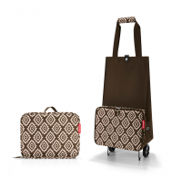 Torba na kółkach Foldable Trolley kolor Diamonds Mocha, firmy Reisenthel