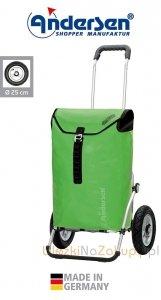 Wózek na zakupy Royal 163 Ortlieb zielony, firmy Andersen
