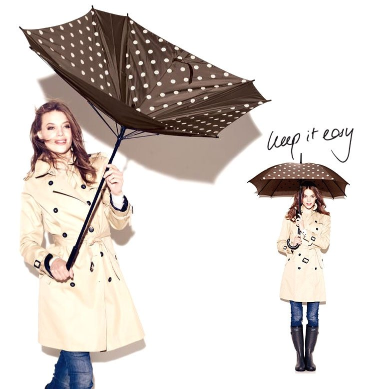 Parasol Umbrella kolor Spots Navy, firmy Reisenthel