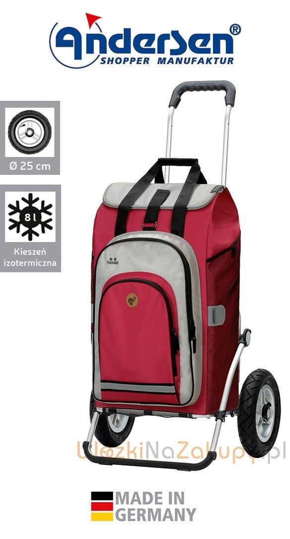 Wózek na zakupy Royal 163 Hydro 2.0 czerwony, firmy Andersen