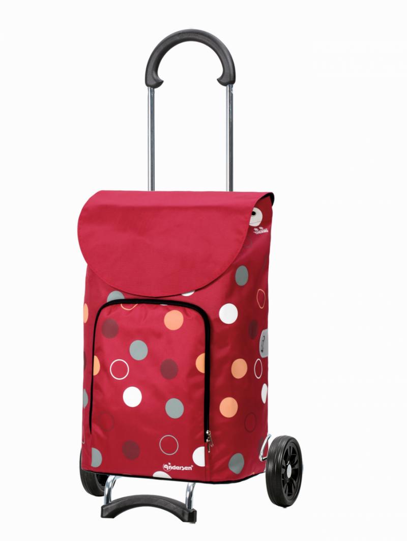 Wózek na zakupy Scala Kira czerwony, firmy Andersen