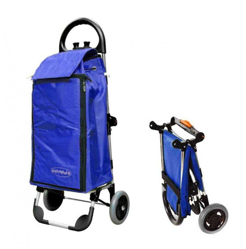Wózek na zakupy Freezer Click niebieski, firmy Aurora