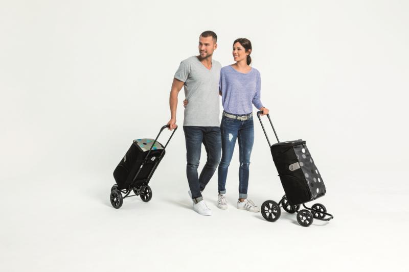 Wózek na zakupy Quattro Mimi złoty, firmy Andersen