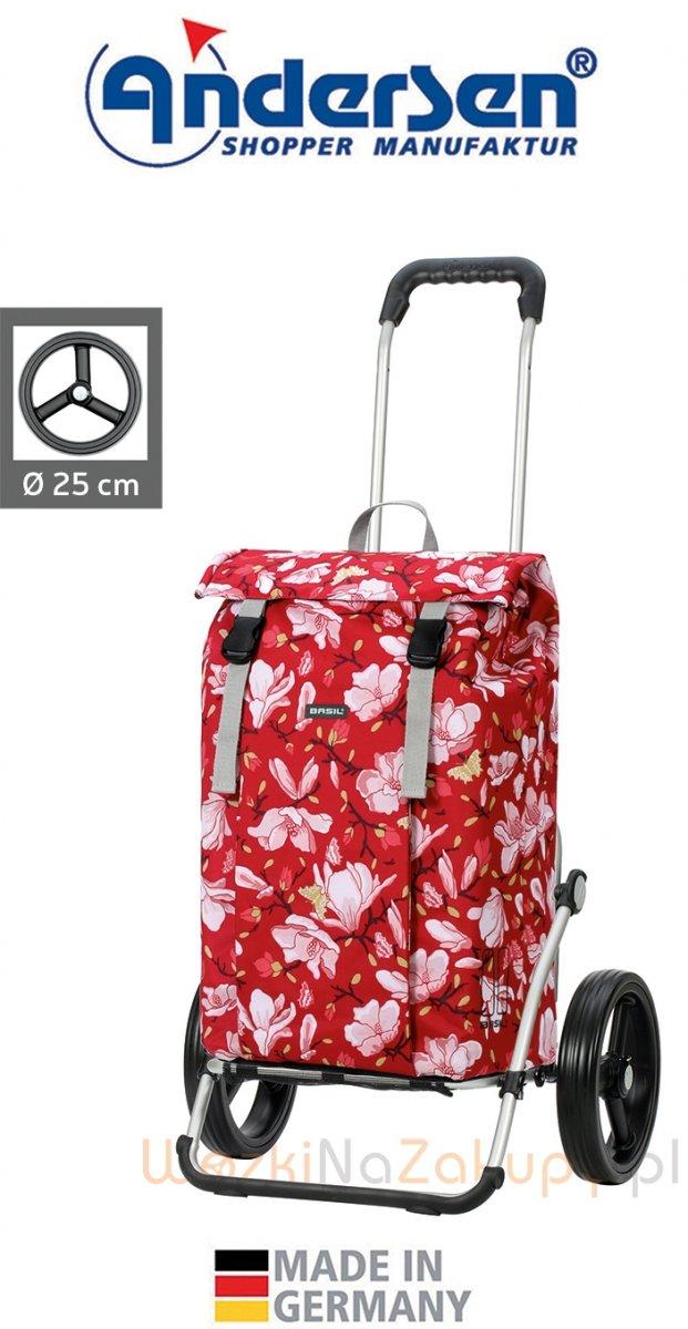 Wózek na zakupy Royal 166 Basil Magnolia czerwony, firmy Andersen