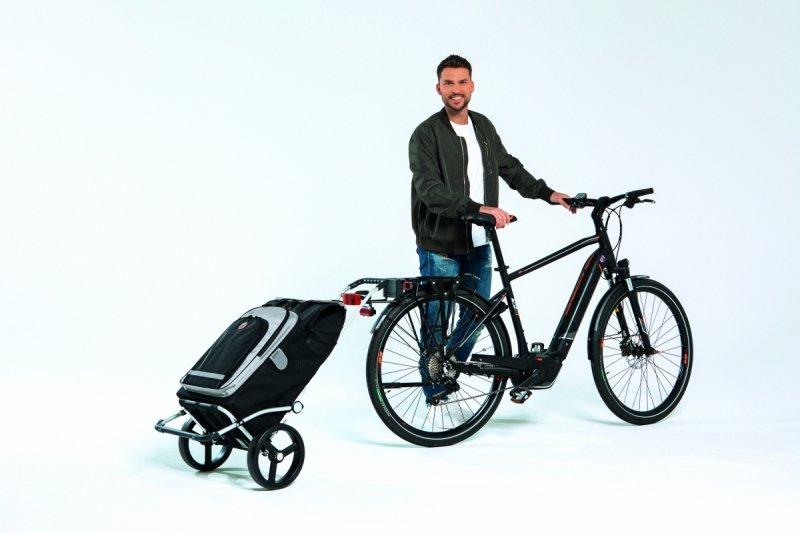 Wózek na zakupy Royal 164 Ortlieb szary, firmy Andersen