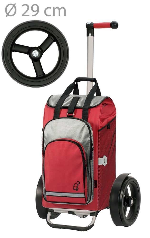 Wózek na zakupy Tura 135 Hydro czerwony, firmy Andersen