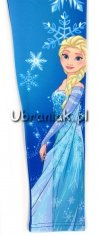 Legginsy Kraina Lodu Elsa niebieskie