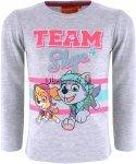 Bluzka Psi Patrol dla dziewczynki Skye szara