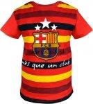 Tshirt FC Barcelona pasy czerwony