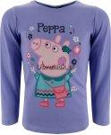 Bluzka Świnka Peppa z torebką fioletowa